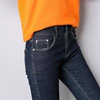Jeans europeos de la venta directa de la fábrica para las mujeres / la chaqueta / las mujeres de la mezclilla de las mujeres en las fotos de los pantalones vaqueros / la nueva falda de la mezclilla de las mujeres del diseño