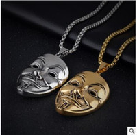 Pendant Necklaces acting masks - Men s V for vendetta pendant restoring ancient ways Nightclub act the role ofing is tasted man mask long accessories