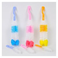 Wholesale Candy Colors Baby Bottle Brush Sale The New Fashion Hot Blue pink yellow Bottle Brush ATRQ0707