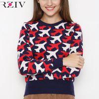 aircraft logos - 2016 women s leisure aircraft logo jacquard sweater sweater
