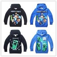 Wholesale Boys minecraft Hoodie children spring Sweatshirts