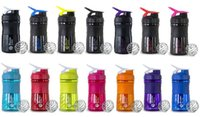 aluminum milk bottle - Fitness Water Bottles Fitness Milk Shake Cup Plastic Cups Sports Water Bottle ML Protein Powder Useful Colorful hy