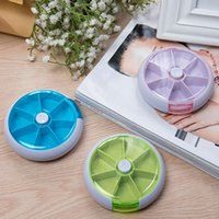 Plastic Tools Eco Friendly Wholesale 7 Slots Weekly Rotating Pillbox Travel Pill Case Pill Organizer Medicine Box Pill Container(3 Colors Available)