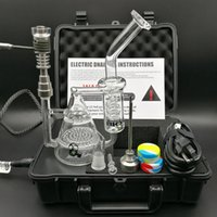 Wholesale Pelican Case D electric Nail E digital Nail kit Bio Glass Bong Honeycomb Recycler Bongs Water Pipe heating nails Titanium Quartz Hybird DHL