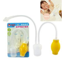 air cleaner duct - Newborn Nasal Aspirator Safety Nose Cleaner Vacuum Air Pump Type With Tweezer Toddler Baby Healthy Care Convenient