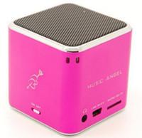 MD07 Mini haut-parleur cubique JH-MD07 haut-parleurs Stereo de l'ange de musique avec le support de radio de FM TF Card Multimédia portable Digital Crystal Box Free DHL