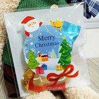 ball biscuit - Mini Christmas Crystal Ball Kids Gift Holder Cookies Packaging Bags Wedding Bake Candy Jewelry Biscuit Plastic Bags
