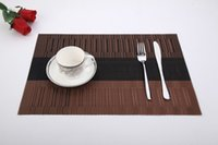 bamboo dining table - PVC Placemat for Table Mat Pad Drink Wine Coasters Bamboo Placemats Dining Table Place Mat Kitchen Table Linens
