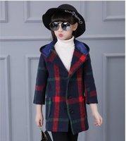 Wholesale Korean girls thick wool tweed coat winter lovely beautiful big school coat coat children children s clothing