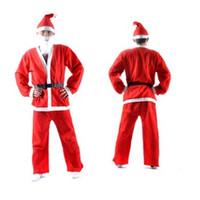 Wholesale New men clothing Christmas show clothing Christmas Santa stage male clothing
