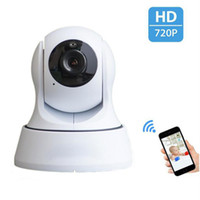 Wholesale HD P IP Camera Pan Tilt WIFI Camera Baby Monitor Motion Detection IR Night Vision Camcorder CCTV Home Surveillance