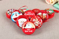 Wholesale Christmas mini coin purse Creative headset package Cartoon style and circular wallet lovely and metal box