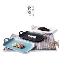 Wholesale Lototo Japanese minimalist matte solid plate count heart frosted binaural household ceramic tableware