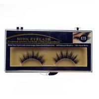 achat en gros de fabriqué à la main des faux cils-100% naturel Minkfur fait à la main Long Faux cils Marque Fashion Lash Blink noir Full Strip faux cils MINK EyELAES maquillage outil 2 paires / lot