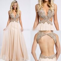 backless strapless body - Faisata Prom Dress Long Sexy Deep V Neck Aline Blush Pink Crystal Corss Body Amazing Evning Party Dresses High Quality Custom Made Plus