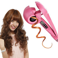 Wholesale Automatic Hair Curler With LCD Hair Roller Curl Hair Crimper Styler Tools Wave Wand Curling Iron Curlers Rollers EU US UK Plug