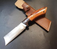 NUEVO ACERO FRÍO El palisandro y el ébano fijaron el cuchillo 9Cr18Mov del cuchillo de la lámina del alambre de acero al aire libre del alambre El cuchillo táctico del acampamiento del borde de la mano pura