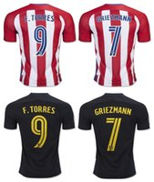 Wholesale 2017 Atletico Madrid home away Whosales top quality fast shipping soccer jerseys torres koke Griezmann football shirts