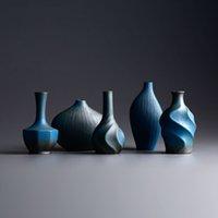 Wholesale Ceramic vase ornaments Flower arrangement vases ceramics Creative traditional Chinese Retro style