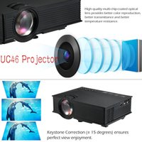 Wholesale UNIC UC46 Mini Portable Projector Wireless WIFI Full HD P LED Video Home Theater Projector for HOME Business Gaming