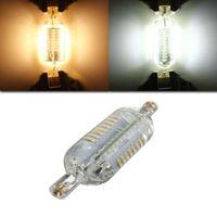 NOUVEAU Dimmable R7S Ampoule LED 10W 15W SMD4014 200-240V 78mm 118mm IP65 Ampoule LED en verre 360 degrés Remplacer lampe halogène Floodlight MYY
