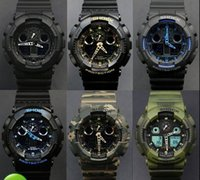 auto cases - G LED Waterproof Swimming G100 men sport Camouflage watches Classic S Shock denim blue watch Original Case