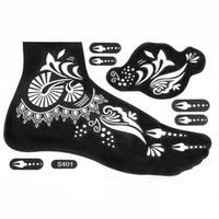 Wholesale Waterproof Tattoo Templates Hands Feet Henna tattoo Stencils for Fake Airbrushing Mehndi Body Painting Kit Supplies S401