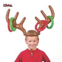 balloon animal hats - Christmas Toys Cute Deer Head Shape Ferrule Game Tools For Kids Inflatable Hat Toys Balloons Party Birthday Decoration Outdoor Game Toys
