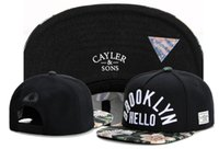 achat en gros de bonsoir snapbacks-HELLO BKLYN Cayler Sons Snapback Ball Caps Hommes Snapback Cap Cheap snapbacks Sports Fashion Caps marque hip hip baseball hats