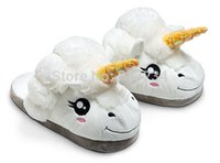 Wholesale Pantoufle Licorne Chausson Licorne Plush Unicorn Slippers Lovely Indoor Slippers For Women