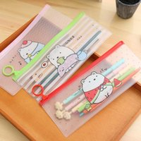 Wholesale S27 Kawaii Cute Molang Rabbit Clear Scrub Pen Bag Pencil Holder Storage Case School Supply Birthday Gift Cosmetic Makeup