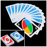 Wholesale Family Funny Entertainment Board Game UNO Fun Poker Playing Cards Puzzle Games Brand New Christmas gift