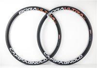 Wholesale No spoke Orange White logo mm carbon bike Wheels with mm width Ultra mm road bike carbon wheels