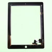Vidrio delantero original para el panel de tacto del cable de la flexión del digitizador de la pantalla táctil del iPad 2 3 con el montaje casero del botón con el pegamento