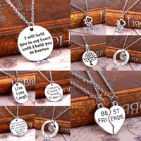 best friends wife - Family Mom Dad Daughter Sister Forever In My Heart Love Husband Wife Best Friends Silver Plated Pendant Necklace Collier Gifts