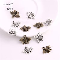 Slides, Sliders bee slides - SWEET BELL Min order mm Zinc Alloy Two color Bee charms Lovely Bee Honey bee Charm Pendant Fit Diy Jewelry Making D6133