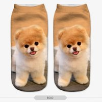 Polyester ankle boo - NO279 D Print Femme kawaii Women Socks Boo Dog Animal Low Ankle Calcetines Meia Sokken calzini donna Sock Slippers