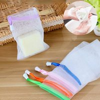 bathing beauty soaps - Spot Handmade Soap Bubbles Net Can Hang Bath Soap Pockets Beauty Tools Cleanser Small Foam Wash Tool Bathe Use ZA2172
