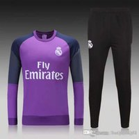 Wholesale Soccer Jersey Thailand Quality New Real Real Madrid Long Sleeve Training Clothing Embroidery
