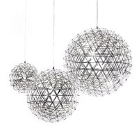 Wholesale Decorative art lights Ball LED chandelier Sparkling chandelier Stainless steel lighting Hotel Dining Room Office Mall Modern Contemporary