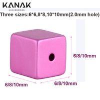 La MANERA de KANAK anodizó las piezas de metal Cube los granos de aluminio 5pcs vende al por mayor los accesorios de la joyería de DIY El envío libre Componentes de los resultados