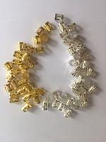 Vente en gros-Argent doré rond coloré cheveux anneaux 100pcs / lot La Havane Mambo Beads Box Braid Beads ajustable cheveux Braid manchette clip