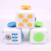 Big Kids Multicolor Plastic Novelty Fidget Cube Stress Relief Toys 11 colors for kids and adults Decompression stress ball wisdom Children Christmas Gift