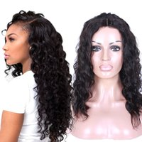 Wholesale Top Grade Brazilian Virgin Hair Lace Front Wig Deep Curly Density Virgin Human Hair Lace Wig With Adjustable Straps