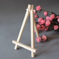 artist wooden easel - 10pcs Mini Artist Wooden Easel Wood Wedding Table Card Stand Display Holder For Party Decoration