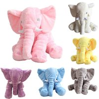 Wholesale Baby Sleeping Pillow Big Elephant Pillow High Quality Kids Plush Toys Stuffed Animals Help Infant baby Sleep color Christmas Gift