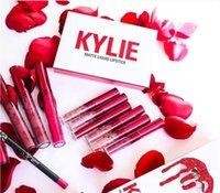Wholesale New Kylie Jenner Valentine s Lipkit Edition a set Lipstick High Quality Kylie Valentine Gift
