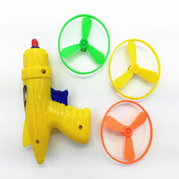 Wholesale The flying saucer gun ejection gyro small pistol Frisbee flying toy gun childhood memories of children after nostalgia