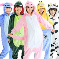 adult bear onesie - EW Adult Pajamas Cosplay Cartoon Animal Onesie Sleepwear Cat Tiger Stitch Bear Panda Dog Unicorn