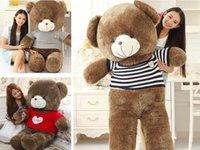 Jouets en peluche mignonne chandail étreintes ours poupée ours en peluche poupée cadeau Saint-Valentin